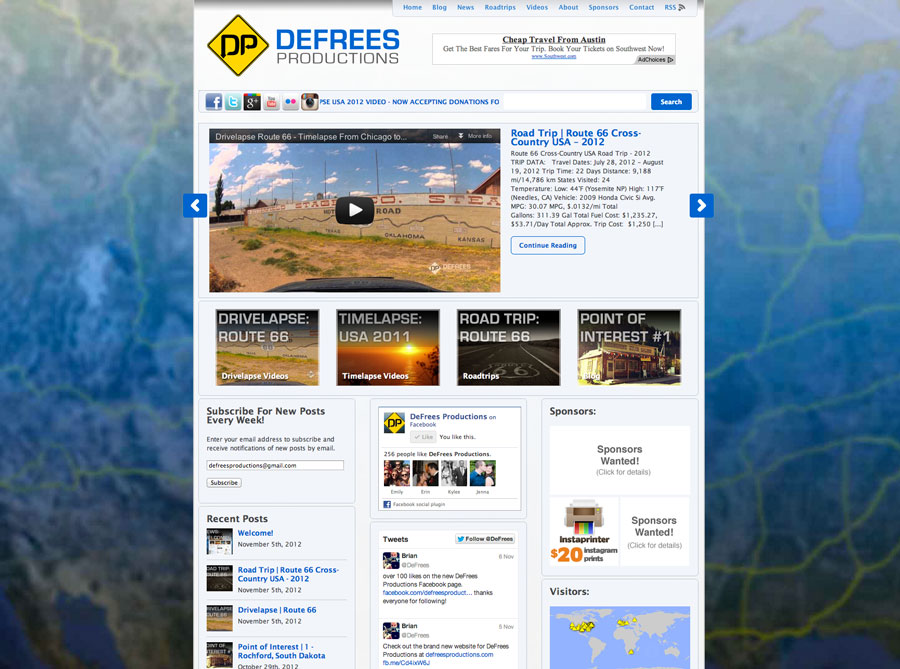 DeFrees Productions Website